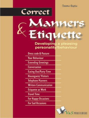 cover image of Correct Manners & Etiquette