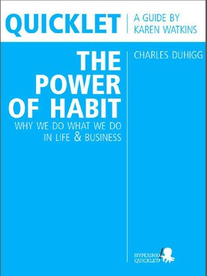 cover image of Quicklet on Charles Duhigg's the Power of Habit