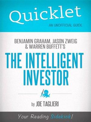 cover image of The Intelligent Investor, by Benjamin Graham, Jason Zweig, and Warren Buffett