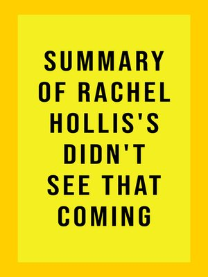 cover image of Summary of Rachel Hollis's Didn't See That Coming