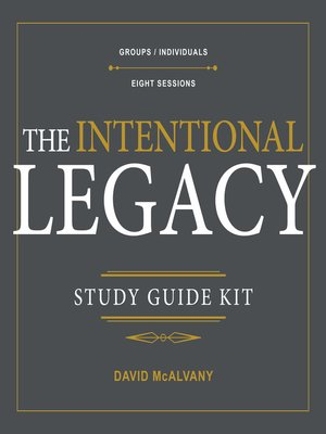 cover image of The Intentional Legacy Study Guide Kit