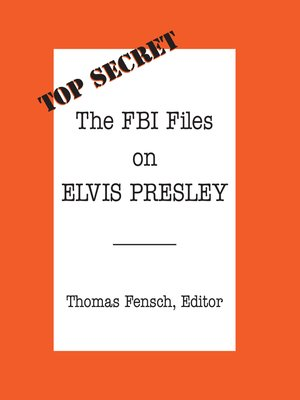cover image of The FBI Files on Elvis Presley