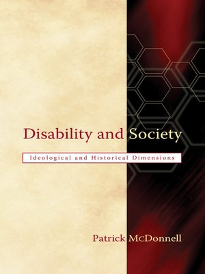 cover image of Disability and Society