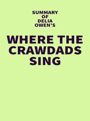 cover image of Summary of Delia Owens's Where the Crawdads Sing