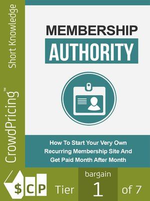 cover image of Membership Authority