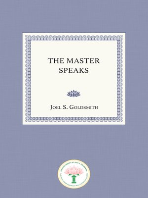 cover image of The Master Speaks