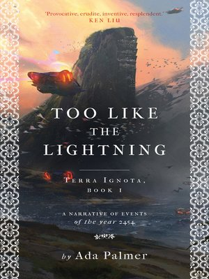cover image of Too Like the Lightning