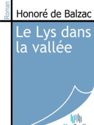 cover image of Le Lys dans la vallée