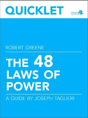 cover image of Quicklet on Robert Greene's the 48 Laws of Power