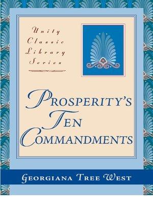 cover image of Prosperity's Ten Commandments