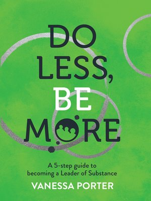 cover image of Do Less, Be More