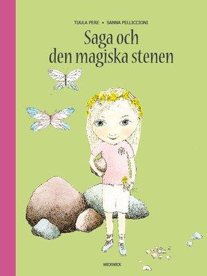 cover image of Saga och den magiska stenen