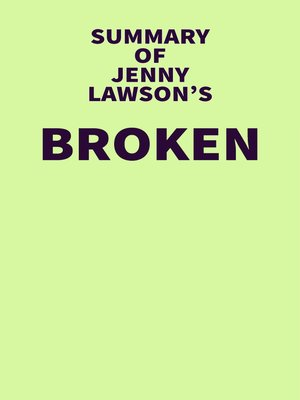 cover image of Summary of Jenny Lawson's Broken