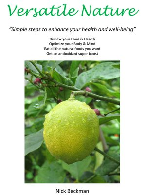 cover image of Versatile Nature: Simple Steps to Enhance Your Health and Well-Being