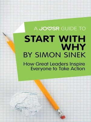 cover image of A Joosr Guide to... Start with Why by Simon Sinek
