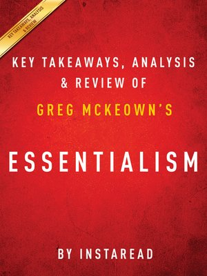 cover image of Essentialism