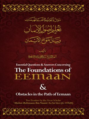 cover image of Essential Q&A Concerning the Foundations of Eemaan