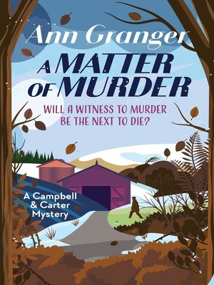 cover image of A Matter of Murder