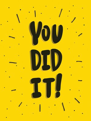 cover image of You Did It