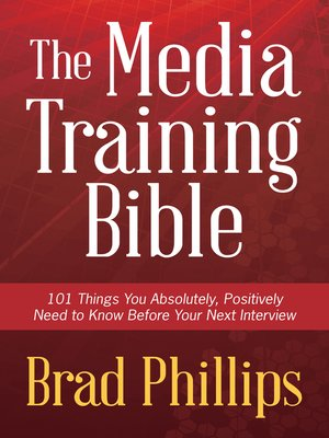 cover image of The Media Training Bible