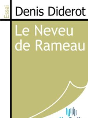 cover image of Le Neveu de Rameau