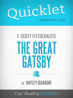 cover image of Quicklet on F. Scott Fitzgerald the Great Gatsby