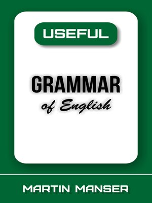 cover image of Useful Grammar of English
