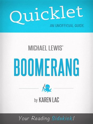 cover image of Quicklet on Michael Lewis' Boomerang