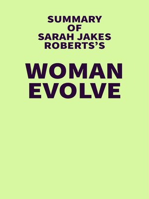 cover image of Summary of Sarah Jakes Roberts's Woman Evolve