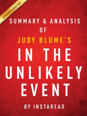 cover image of In the Unlikely Event by Judy Blume / Summary & Analysis