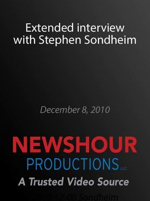 cover image of Extended interview with Stephen Sondheim