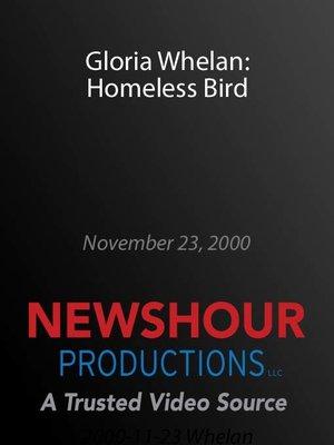 cover image of Gloria Whelan: Homeless Bird