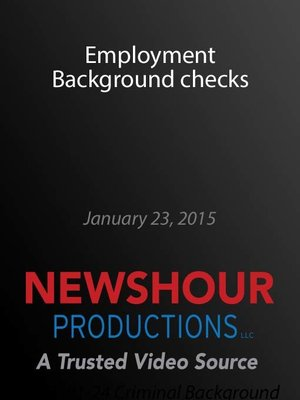 cover image of Employment Background checks