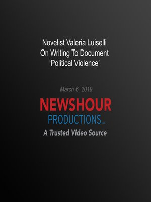cover image of Novelist Valeria Luiselli On Writing To Document 'Political Violence'