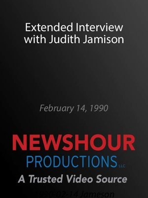 cover image of Extended Interview with Judith Jamison