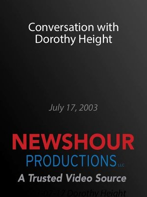 cover image of Conversation with Dorothy Height