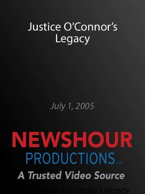 cover image of Justice O'Connor's Legacy