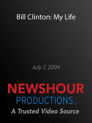 cover image of Bill Clinton: My Life