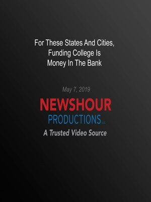 cover image of For These States And Cities, Funding College Is Money In the Bank
