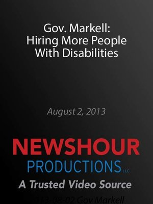 cover image of Gov. Markell: Hiring More People With Disabilities