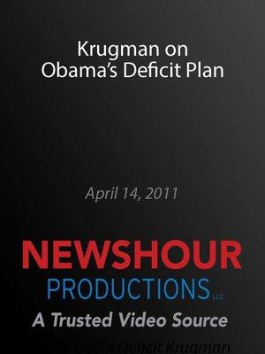 cover image of Krugman on Obama Deficit Plan