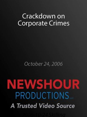 cover image of Crackdown on Corporate Crimes