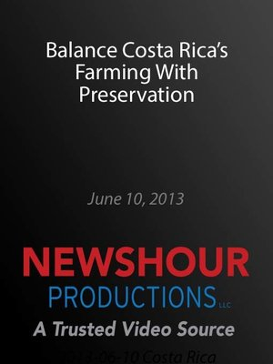 cover image of Balance Costa Rica's Farming With Preservation