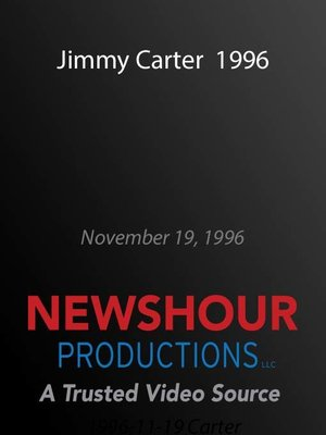 cover image of Jimmy Carter 1996