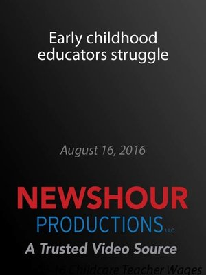 cover image of Early childhood educators struggle