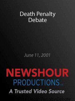 cover image of Death Penalty Debate
