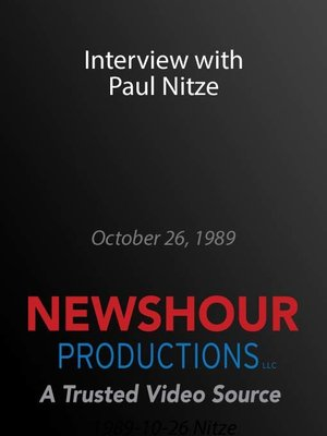 cover image of Interview with Paul Nitze
