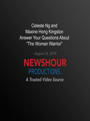 "cover image of Celeste Ng And Maxine Hong Kingston Answer Your Questions About ""The Woman Warrior"""