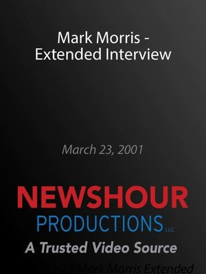 cover image of Mark Morris - Extended Interview
