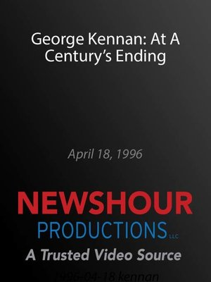 cover image of George Kennan: At A Century's Ending